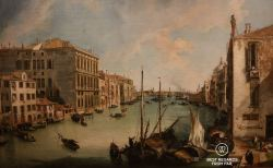 The Grand Canal from San Vio, Venice, Canaletto, 1724, Museo Thyssen Bornemisza, Madrid, Spain