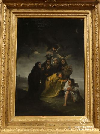 The witches by Goya, 1798, Museo Lazaro Galdiano, Madrid, Spain