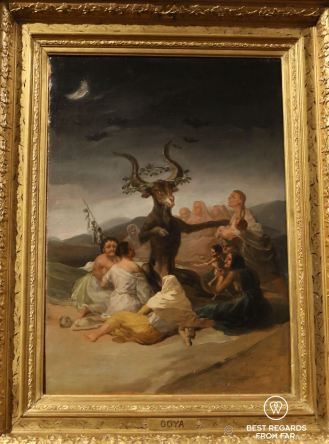 The witches of Sabbath by Goya, 1798, Museo Lazaro Galdiano, Madrid, Spain