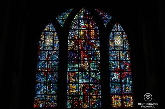 Stained glass window at the Saint George's Cathedral, Cape Town, South Africa