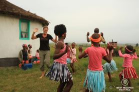 Traditional dancing, Wild Coast hike, South Africa