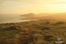 Sunset in Mtentu, Wild Coast hike, South Africa