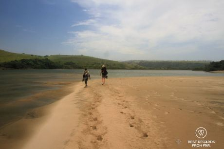 River crossing, Wild Coast hike, South Africa