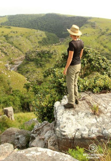 Taking in the Mnyameni canyon, Wild Coast hike, South Africa