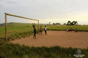 Soccer game in Mnyameni, Wild Coast hike, South Africa