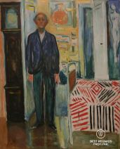 Between the clock and the bed, The Edvard Munch Museum, Oslo, Norway