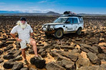 Kingsley Holgate exploring Africa, photo by Kingsley Holgate Foundation