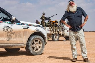 Kingsley Holgate en-route to the easternmost point of the African continent, photo by the Kingsley Holgate Foundation