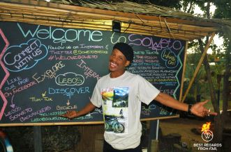 Lebo, the proud entrepreneur and owner of Lebo's tours, Soweto, South Africa