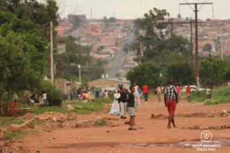 Street scene in Soweto, South Africa