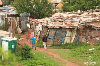 Informal settlement in Klipspruit, Soweto, South Africa