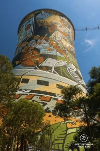 The iconic Orlando Power Station Cooling Tower, Soweto, South Africa