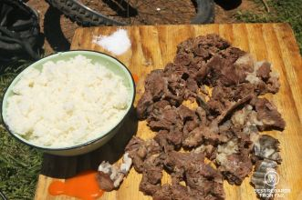 The local delicacy beef cheeks, Roodepoort, Soweto, South Africa