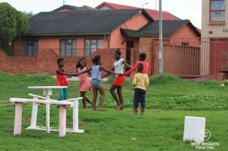 Children dancing, Soweto, South Africa