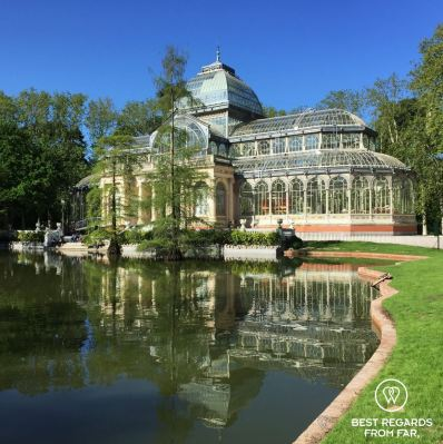 The cristal palace in the Buen Retiro Park, Madrid, Spain