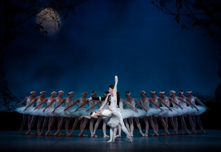 Swan Lake performance in the Oslo Opera house, photo by Erik Berg