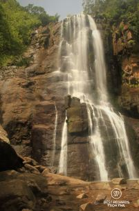 Tha Madonna and Child Waterfall in full glory, Hogsback, South Africa