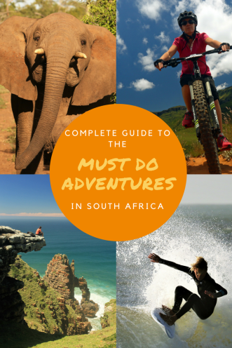 Must do Adventures - Pinterest Pin South Africa