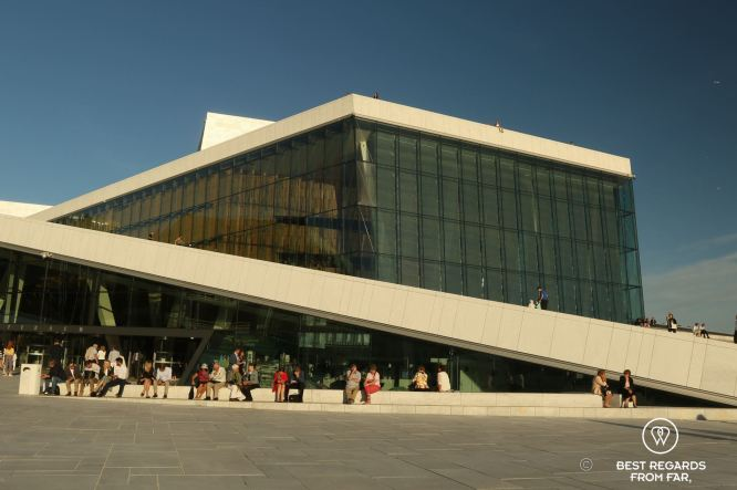 The Oslo Opera House during the recess of Swan Lake, Norway