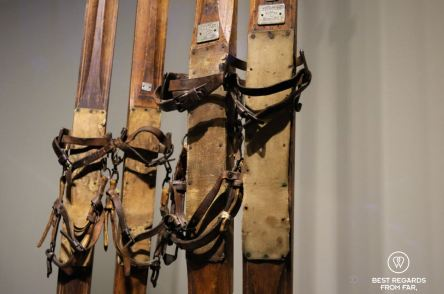 Skis used for the South Pole Expedition, The Holmenkollen Ski Museum, Oslo, Norway