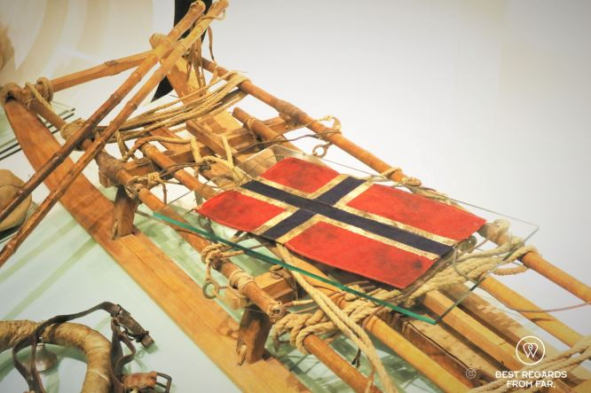 Sledge used during the first South Pole Expedition, Holmenkollen Ski Museum, Oslo, Norway