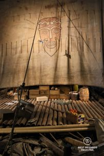 The original Kon Tiki raft in the Kon Tiki Museum Oslo, Norway
