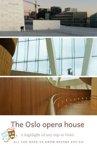 The Oslo opera house, Pinterest Pin