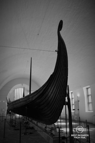 A thousand-year old Viking longship, The Viking Museum, Oslo, Norway