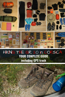 GR 20 your complete guide - Pinterest Pin - Corsica, France