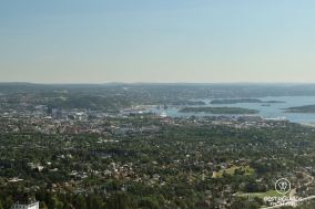 Oslo Fjord from the Holmenkollen Ski Museum, Norway