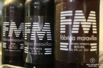 The crafted beers of la Fábrica Maravilla, Madrid, Spain