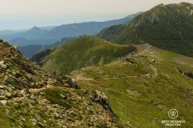 Ridgeline trail on Stage 11 of the GR 20, Corsica, France