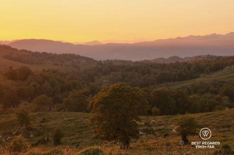 Sunset by the bergerie de Croci, GR 20, Corsica, France