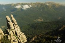 The village of Cozzano down the GR 20, Corsica, France