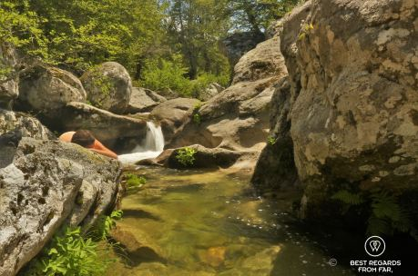 Relaxing by the waterholes, GR 20, Corsica, France