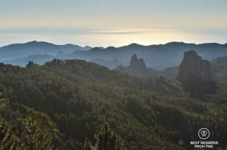 View from Foce Finosa on the East coast, the GR 20, Corsica, France
