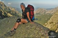 On the majestic Bavella peaks one feels very tiny, GR 20, Corsica, France