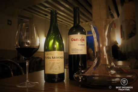 Some of the excellent red wines tasted with Andrés, Madrid, Spain