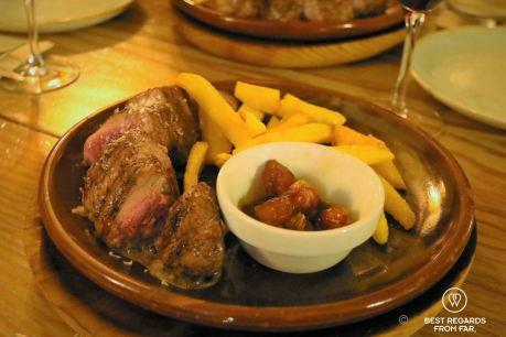 To die-for pork tenderloin, tapas and wine pairing food tour, Madrid, Spain
