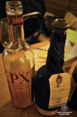 Dessert wines, some of world's best for the tapas and wine pairing food tour, Madrid, Spain
