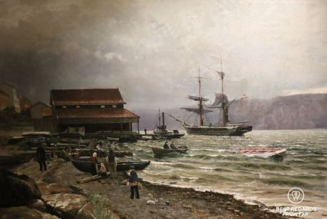 A painting of Drobak by Nils Hansteen 1886, Norwegian Maritime Museum, Oslo, Norway