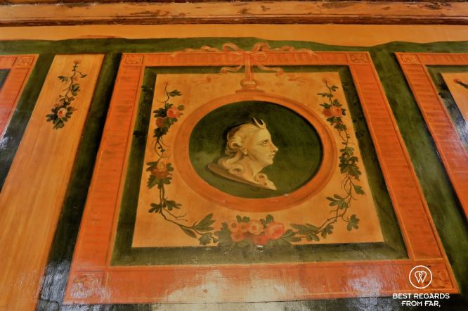 Original fresco in the historical Prins & Prins, Cape Town, South Africa
