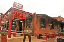 Trendy brewery on an early morning in the former dynamite building, Johannesburg, South Africa