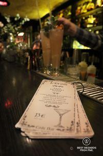 Code Bar's menu in Strasbourg, France