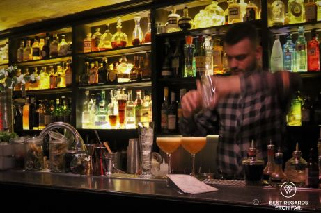 The most delicious cocktails in town are made by the barman of the Code Bar in Strasbourg, France