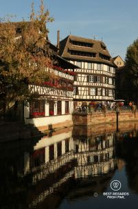 The picturesque houses of La Petite France in Strasbourg, France