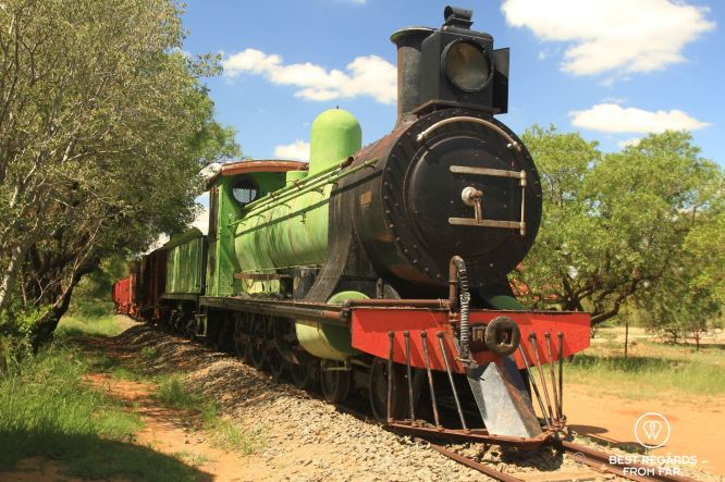 Train that transported innocent victims to the concentration camps of the Anglo-Boer War, Bloemfontein, South Africa