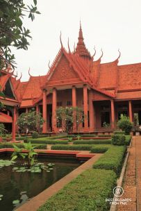 Garden and fine architecture of the National Museum of Cambodia, Phnom Penh