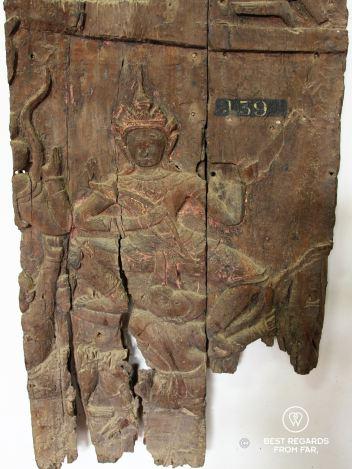 17th century wood sculpture, National Museum of Cambodia, Phnom Penh