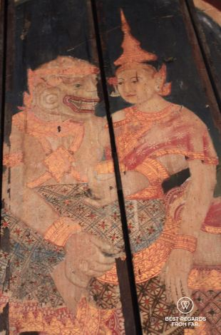 Painting on wood, National Museum of Cambodia, Phnom Penh